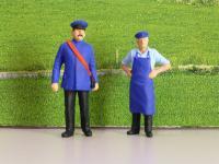 Bahnpersonal, 2 Figuren für die Gartenbahn