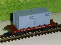PSK 1747-1 Flachwagen mit 2 Container