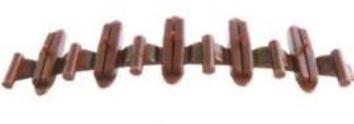 Tillig 85502 Isolierschienenverbinder, braun