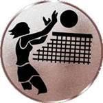 Emblem Volleyball-Damen, 50mm Durchmesser - Vorschau 1