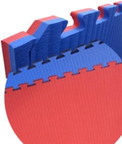 gebrauchte Wendematte Professional rot/blau - 100 x 100 x 2, 0 cm