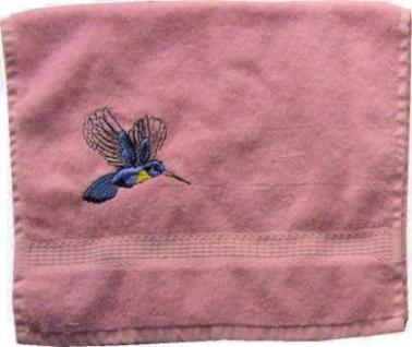 Gästetuch aus Frottee mit Bestickung Kolibri - Vorschau