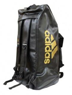 adidas Sporttasche - Sportrucksack schwarz/gold Kunstleder