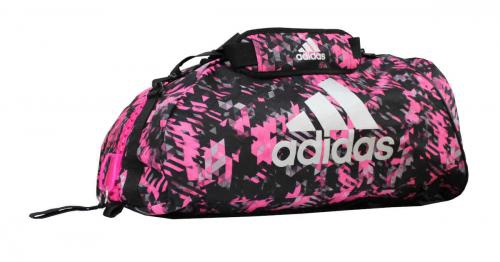 adidas Sporttasche - Sportrucksack Camouflage pink/silber