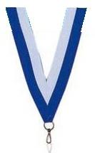 Medaillen Band weiß/blau