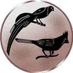 Emblem Zuchtvögel, 50mm Durchmesser