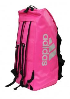 adidas Sporttasche - Sportrucksack pink/silber Kunstleder - Vorschau 3