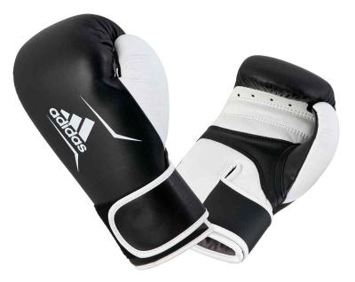 adidas Boxhandschuh Speed 165 Leder schwarz weiß 10 OZ