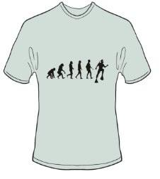 T-Shirt Evolution Tauchen Farbe ash - Vorschau 1