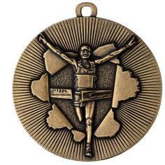 Medaille Rennen Ø50mm gold - Vorschau