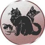 Emblem Katzen, 50mm Durchmesser