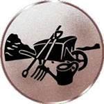 Emblem Gartenarbeit, 50mm Durchmesser - Vorschau 1