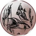 Emblem Zierfische, 50mm Durchmesser
