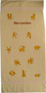 Frotteetuch hellgelb mit Sternzeichen Steinbock - Vorschau 1
