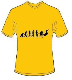 T-Shirt Evolution Judo Farbe goldgelb - Vorschau 1