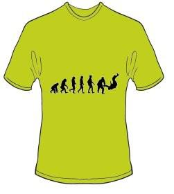 T-Shirt Evolution Judo Farbe kiwigrün