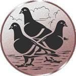 Emblem 3 Tauben, 50mm Durchmesser - Vorschau 1