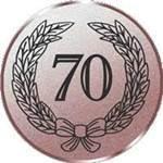 Emblem Jubiläum 70, 50mm Durchmesser