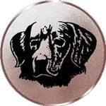 Emblem Hundekopf, 50mm Durchmesser