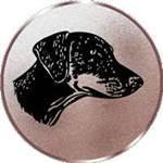 Emblem Dobermann, 50mm Durchmesser - Vorschau 1