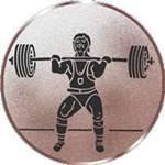 Emblem Gewichtheben, 50mm Durchmesser