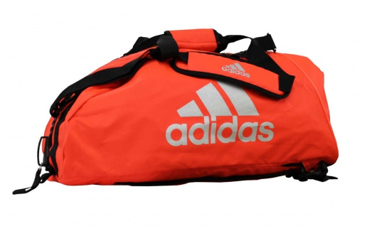 adidas Sporttasche - Sportrucksack neonorange/silber (Größe: M)