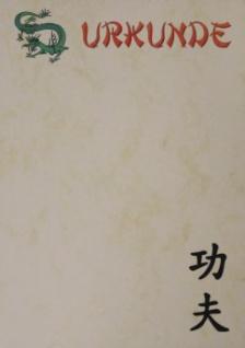 Urkunde Kung Fu