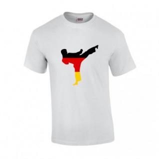 T-Shirt mit Karateka in Deutschlandfarben