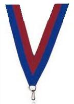 Medaillen Band rot und blau