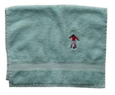 Handtuch aus Frottee mit Bestickung Fußballer - Vorschau