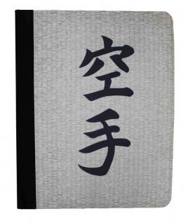 Schreibunterlage mit Karate Schriftzeichen