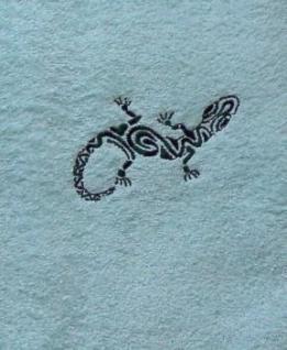 Duschtuch aus Frottee mit Stickmotiv Gecko - Vorschau