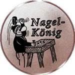 Emblem Nagelkönig, 50mm Durchmesser