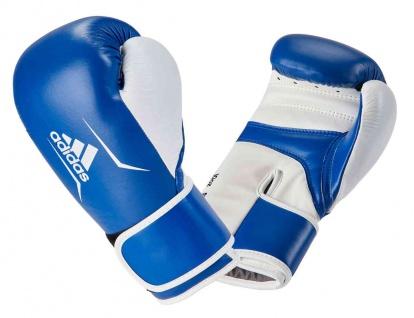 adidas Boxhandschuh Speed 165 Leder royalblau weiß 10 OZ