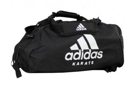 96c77079dab23 adidas Sporttasche - Sportrucksack schwarz weiss Karate