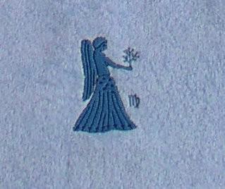 Frotteetuch hellblau mit Sternzeichen Jungfrau - Vorschau 3