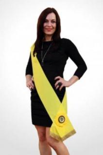 Siegerschärpe gelb