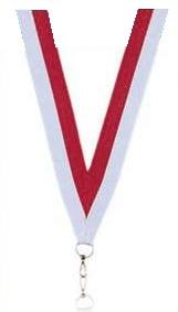 Medaillen Band rot und weiss
