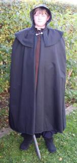 Mittelalterlicher schwarzer Umhang - Vorschau 1