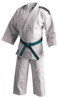 Judoanzug adidas Training J500 weiß mit schwarzen Schulterstreifen