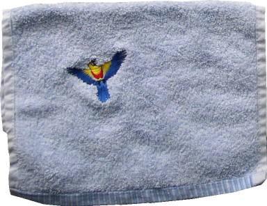 Handtuch aus Frottee mit Bestickung Papagei - Vorschau