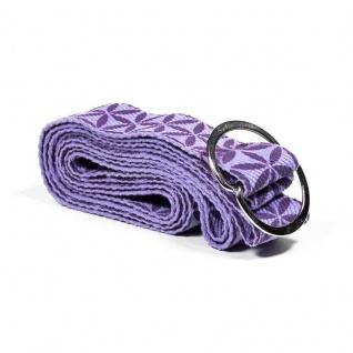Yogagurt/Yogaband lila/Blume des Lebens 183x4 cm