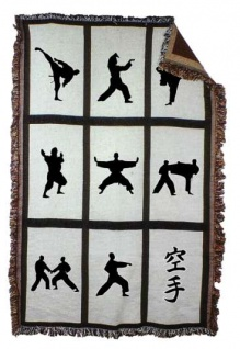 Decke mit Karate Motiven