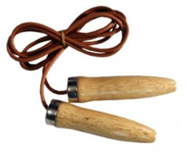 Profi Springseil aus Leder mit Holzgriffen - Vorschau