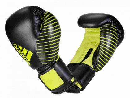 adidas Boxhandschuh Competition Leder schwarz neongrün 10 OZ