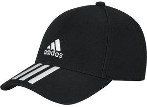adidas Cap schwarz mit weißen Streifen