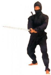 Ninja Anzug schwarz
