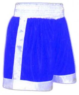 Boxhose blau/weiß Satin
