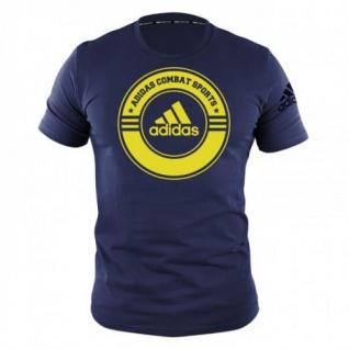 adidas T-Shirt Combat Sports blau/gelb