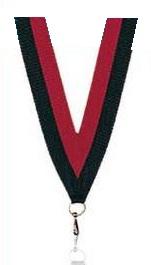 Medaillen Band rot und schwarz